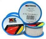 PARTEX CABLE MARKER 1/3 DISC WHITE(A)